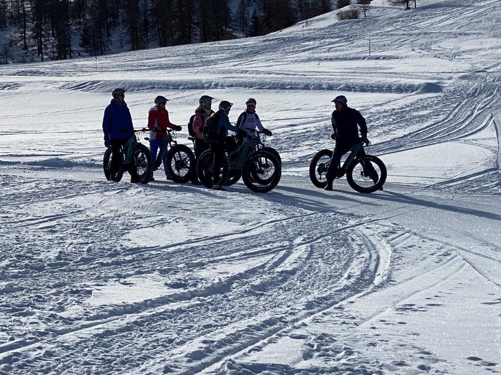 Vtt sur neige ou Fat Bike sur le plateau Saint Jean